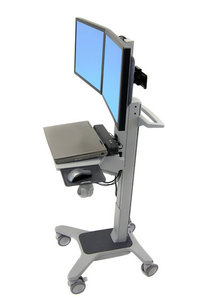 Dual LCD Wideview Workspace Cart