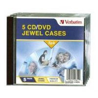 Verbatim CD/DVD Jewel Cases 5 Pack