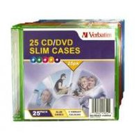 Verbatim CD/DVD Coloured Slim Cases 25 Pack
