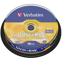DVD+RW 4.7GB 10Pk Spindle 4X