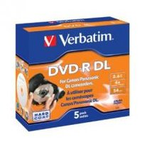 Verbatim 43631 DVD-R DL 2.6GB 5 Pack 8cm Hardcoat 4x