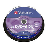 Verbatim 43666 DVD+R DL 8.5GB 8x, 10 Pack Spindle