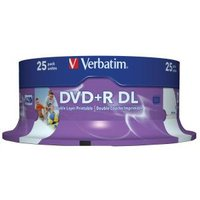 DVD+R DL 8.5GB 25Pk WHT Wide IJ 8x