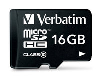 Verbatim Micro SDHC 16GB (Class 10) with