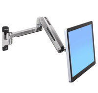 LX HD Sit-Stand Wall Mount LCD Arm Poli