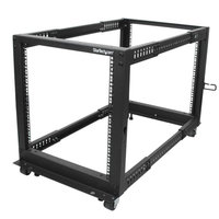 12U Adjustable Depth 4 Post Server Rack