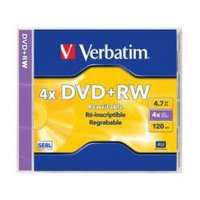 Verbatim DVD+RW 4.7GB Jewel Case 1 Pack 4x