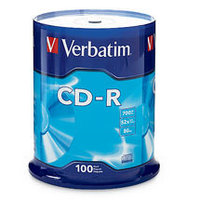Verbatim CD-R 80 Min Spindle 100 Pack 52x
