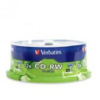 CD-RW 700MB 25Pk Spindle 4x-12x H Speed