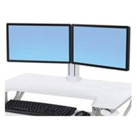 WORKFIT DUAL MONITOR KIT WHITE