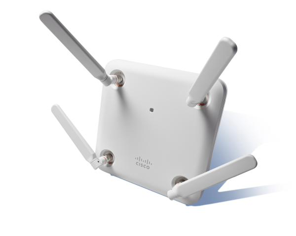 Cisco Aironet 1852e Indoor Access Point with external antenna points,  Dual-band 802 11ac Wave 2 with Mobility Express Controller Software