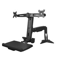 Sit Stand Dual Monitor Arm - Adjustable
