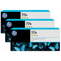 HP 771B YELLOW INK TRIPLE PACK 775 ML DESIGNJET INK