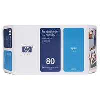 HP 80 CYAN INK 350 ML C4846A, FOR DJ 1000