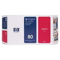HP 80 MAGENTA INK 350 ML C4847A FOR DJ 1000