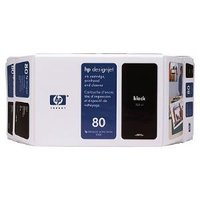 HP 80 BLACK INK 350 ML C4871A, FOR DJ 1000