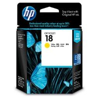 HP No.18 Yellow Ink Cartridge  - 900 pages