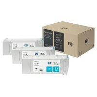 HP 81 CYAN INK 3 PACK 680 ML C5067A FOR DJ 5500, 5500 PS 5000, 5000 PS