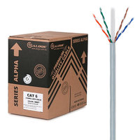 ALOGIC 305m 23AWG Grey PVC Solid CAT6 Network Cable  UUTP / 4 Pair