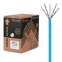 ALOGIC 305m 23AWG Blue PVC Stranded CAT6 Network Cable  Series Alpha UUTP / 4 Pair