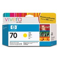HP 70 YELLOW 130 ML INK C9454A FOR Z2100, 3100, 3200