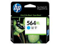 HP No.564XL Cyan Ink Cartridge - 750 pages