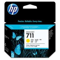 HP 711 YELLOW INK CARTRIDGE 3-PACK 29-ML FOR DESIGNJET T120, T520