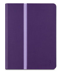 New iPad 10in Stripe Cover Purple