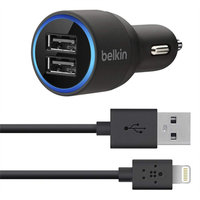 Lightning Car Charger + USB Port