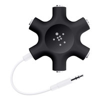 Rockstar mult headphone splitter Blk