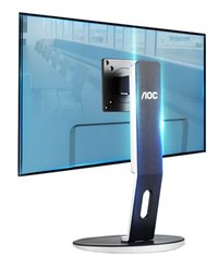 "AOC H271 24-27"" LCD Height Adjust Monitor Stand 75mm & 100mm VESA"
