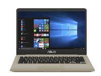"ASUS Core i5-8250U 1.6/3.4Ghz, 8GB, 256GB SSD, 14"" FHD, No ODD, Win 10 Pro 64, Gold"