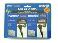 Brother LC37 Black Twin Pack