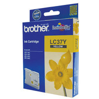 BROTHER LC37 YELLOW INK 300 PAGE YIELD FOR 135C, 150C, 235C & 260C
