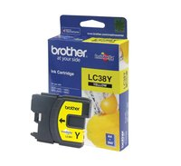 BROTHER LC38 YELLOW INK 260 PAGE YIELD FOR 165, 195, 375, 295 & 263