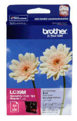 BROTHER LC39 MAGENTA INK 260 PAGE YIELD FOR 315, 515, 265, 410 & 419