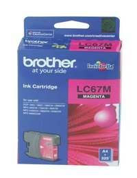 BROTHER LC67 MAGENTA INK 325 PAGE YIELD FOR 5890, 6490, 6690 & 6898