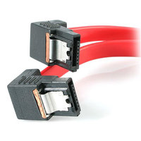 18in Right Angle Latching SATA Cable