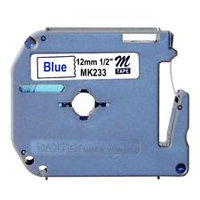 BROTHER P-TOUCH 12MM X 8M BLUE ON WHITE M TAPE