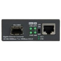 Fiber Media Converter with Open SFP Slot