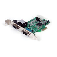 2 Port PCIe Serial Adapter Card w/ 16550
