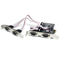4 Port PCIe Serial Adapter Card w/ 16550
