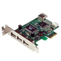 4 Port LP PCI Express USB Card