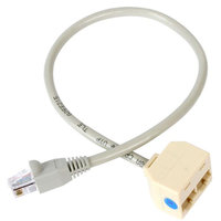 2-to-1 RJ45 Splitter Cable Adapter - F/M