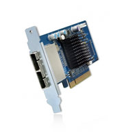QNAP Dual-wide-port storage expansion card, SAS 6Gbps, for A01 series tower mount models