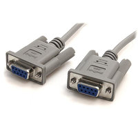 10 ft DB9 RS232 Serial Null Modem Cable