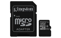 KINGSTON 32GB MICRO SDHC (CLASS 10), CANVAS SELECT UHS-I 80R FLASH CARD