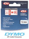 Dymo Red on Wht 12mmx7m Tape