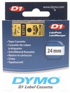 Dymo Blk on Yell 24mmx7m Tape