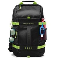15.6 ODYSSEY BLACK/GREEN BACKPACK